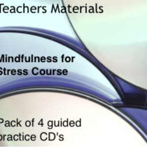 Mindfulness for Stress Course Pack of 4 Guided Practice CDs