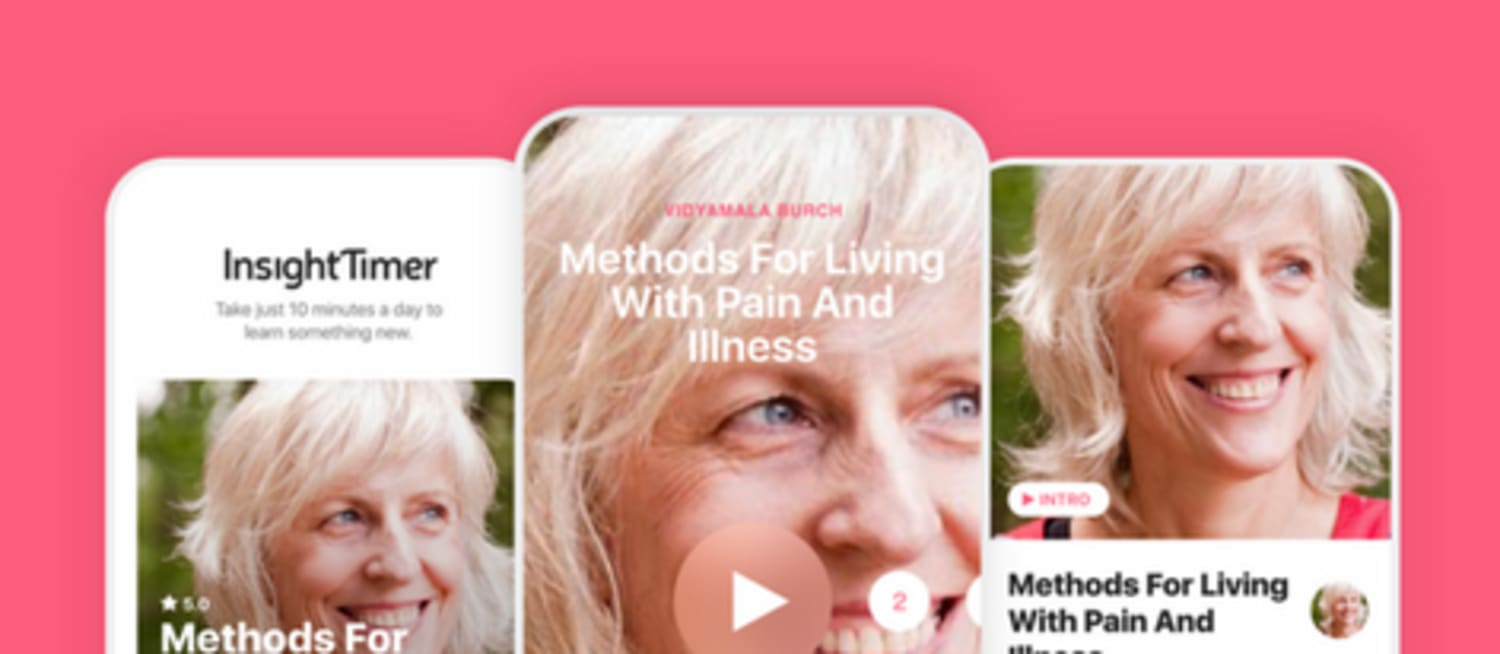 New course on Insight Timer app – Methods for Living With Pain and Illness